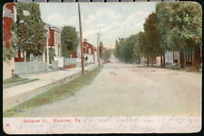 HANOVER PA Baltimore Street Antique Town View Postcard Old Vtg Pennsylvania PC