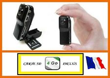MINI CAMERA ESPION DV SPORT COULEUR NOIR + CARTE MICRO SD 4 GO
