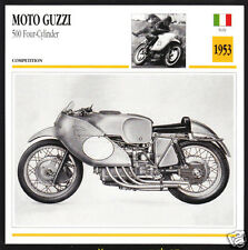 1953 Moto Guzzi 500cc Four-Cylinder Enrico Lorenzetti Race Motorcycle Photo Card