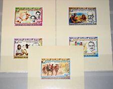 MAURITANIA MAURETANIEN 1977 563-67 Deluxe Nobelpreis Gewinner Nobel Price MNH