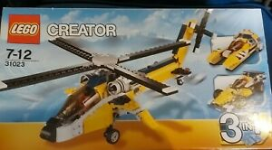 LEGO CREATOR 31023 - YELLOW RACERS 3-in1 - NIB HELICOPTER BOAT CAR