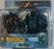 NECA MISP Pacific Rim GYPSY DANGER LEATHERBACK Jaeger Kaiju action figure 2 pack