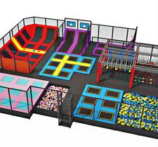 8,000 sqft Commercial Trampoline Park Ninja Rock Gym Inflatable We Finance 100%