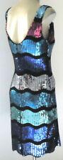 Rayon V-Neck Stripes Dresses for Women