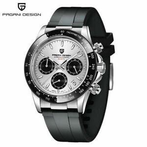 PAGANI DESIGN PD-1644 100M Men Watches Sport Quartz Watch  Chronograph Silicone