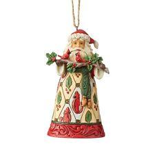 Jim Shore Santa With Cardinals Christmas Ornament 6004303 New