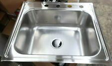 """Elkay 25""""L x 22""""W x 9""""D Top Mount Single Bowl Kitchen Sink ---- (E0)"""