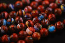 10pcs Round Glass Gold Stardust Millefiori Beads Spacer Finding 8/10mm Charms