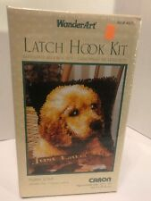 New listing WonderArt Latch Hook Kit 12� X 12� Puppy Love Sealed