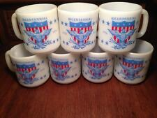Glasbake Coffee Mugs Bicentennial 1776-1976 , retro , Americana, vintage,glass