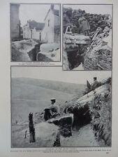 1915 GERMAN TRENCH ARRAS, FRENCH TRENCH ARGONNE, MOUNTAIN TRENCH VOSGES WWI WW1
