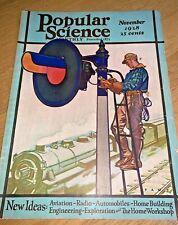 November 1928 POPULAR SCIENCE -NIKOLA TESLA / NEW YORK FIRE CHIEF KENLON
