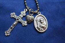 St Rita Saint Medal Liturgy Cross Necklace Saint Rita Necklace