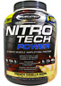 NEW MUSCLETECH NITRO TECH WHEY PROTEIN DIETARY SUPPLEMENT MUSCLE CARE HEALTHY