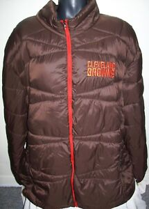 CLEVELAND BROWNS Puffer Pack It Jacket with Tote Bag BROWN 6X