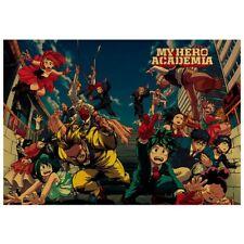 Anime Boku No Hero Academia My Hero Academia Kraft Poster 50.5*35cm Qsen