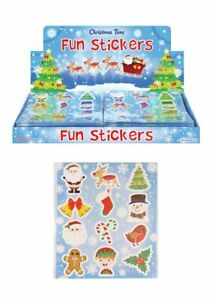 6 Packs of Christmas Fun Stickers - Great Stocking Filler, Party Bag Filler