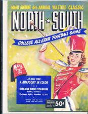 1951 12/25 North vs South All Star Football Game Program Miami Florida
