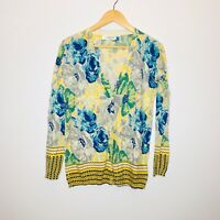 Sparrow Anthropologie Floral Cardigan Sweater Womens size Small Button Front
