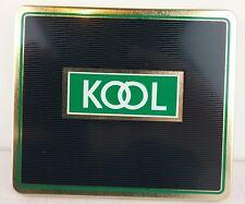 Kool Cigarettes Tin Box Holder Case Black Made in England Vintage