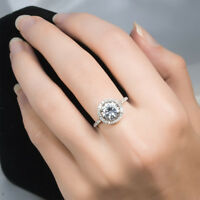 Womens 3.0 CT Round Cut Promise RING Fashion Bridal White Gold Plated SIZE 5-9