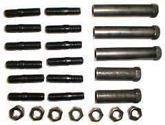 1968-71 Big Block C-Body Exhaust Manifold Fastener Kit HP BB 383 440 Studs Nuts