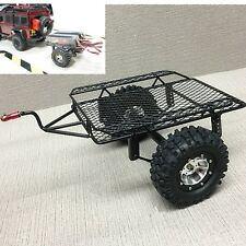 KYX Rock Crawler RC Car Metal Trailer W/ 90MM Tire for 1/10 Axial SCX10 D90 CC01