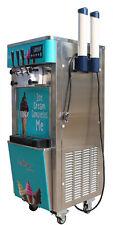 110v Commercial Soft Serve Ice Cream Freezer Machine 3 Flavor 20 30lh