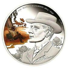 """Australien - 1 Dollar 2014 - 150 Jahre A.B. """"Banjo"""" Paterson - 1 Oz Silber PP"""