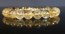 Citrine Crystal Bracelet Therapeutic Gemstone 8mm