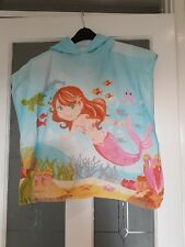 Childrens Cotton Towelling Bath Robe, Towel One Size Featuring Mermaids