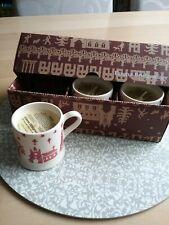 Emma Bridgewater Christmas Town Boxed Set 3 Mini mugs with candles, new & unused