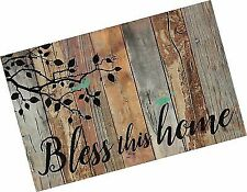 Bless This Home Birds Design Distressed 25 x 16 Inch Solid Pine Wood Pallet Wall