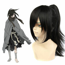 Dororo Hyakkimaru Cosplay Wig Long Straight Clip Ponytail Black Hair Women Mens