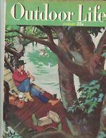 Outdoor Life Magazine August 1949 M Bouldin Ducks Trout Venison Fishing Derbies