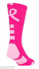 *** 1 Pair Kid's Performance Elite PINK Breast Cancer Awareness Socks 6-8 ***