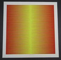 Getulio Alviani Design Ia Farbserigraphie 1971 handsigniert