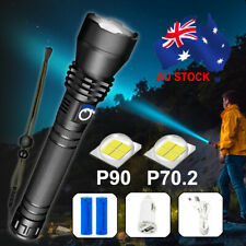 XHP90 Most Powerful 120000LM Tactical 3 Mode Zoom Flashlight LED Hunting Torch