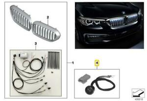 BMW 5 Series G30 Button Front Grille Iconic Glow Genuine 63172468335