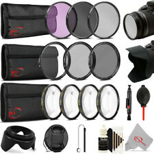 55mm Complete Filter Set Accessory Kit for Nikon D7500 D5600 D5500 D3400 DSLRs