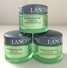 Lot 3 x Lancome Energie De Vie The Water Infused Cream 3 x 15g=45g