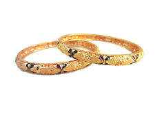 Indian Gold plated Bangle Bracelets Traditional Bollywood Wedding Party Fashion