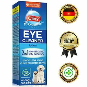 Cliny Universal Eye Cleaner for Dogs and Cats - Natural Treatment for Eye Infect
