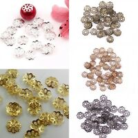 500pcs Metal Flower Shaped Bead Caps Finding 6mm Silver/Golden/Bronze/Copper 6mm