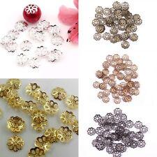 500 Pcs Wholsale Filigree Hollow Flower End Spacer Metal Bead Caps Findings 6 mm