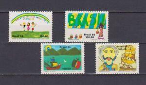 S19130) Brasil Brazil MNH New 1984 Patriotic Week 4v