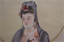 "Excellent Chinese 100% Hand Painting & Scroll ""Guan Yin"" By Zhang Daqian 张大千 FT8"