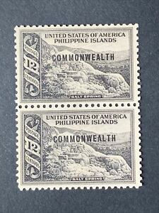 U2/50 US Philippines Stamp 1937 Scott 438 8c Ovpt Unused NH No Gum Nice Pair