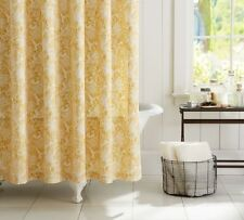 "Pottery Barn NEW Mari Shower Curtain 100% Cotton 72"" Yellow/Gold & Ivory Floral"
