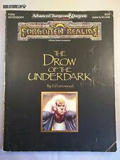 AD&D 2 ed. THE DROW OF THE UNDERDARK Advanced Dungeons & Dragons TSR 2326